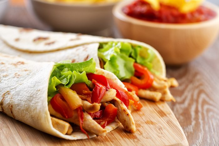 Meilleures recettes rapides et santé: pita au poulet.