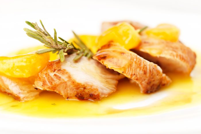 Meilleures recettes rapides et santé: Poulet à l'orange.