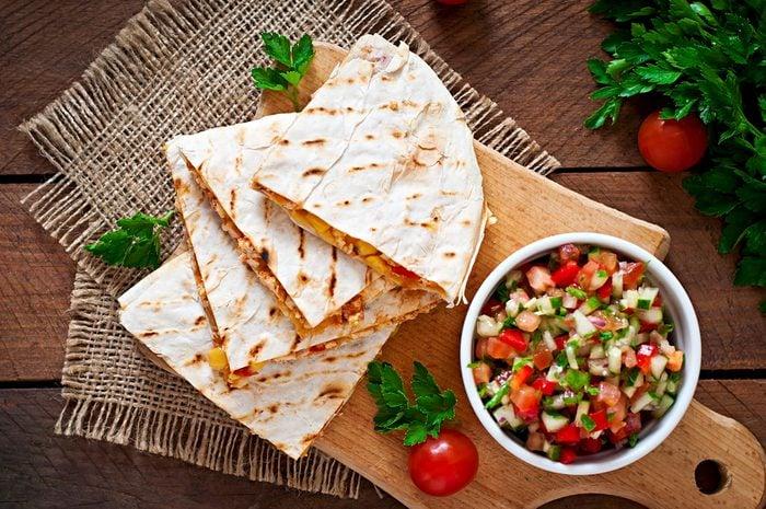 Meilleures recettes rapides et santé: quesadilla.