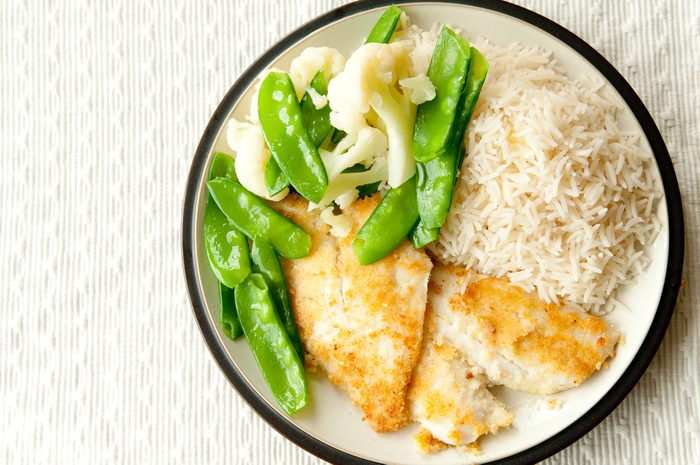 Meilleures recettes rapides et santé: crumble de sole.