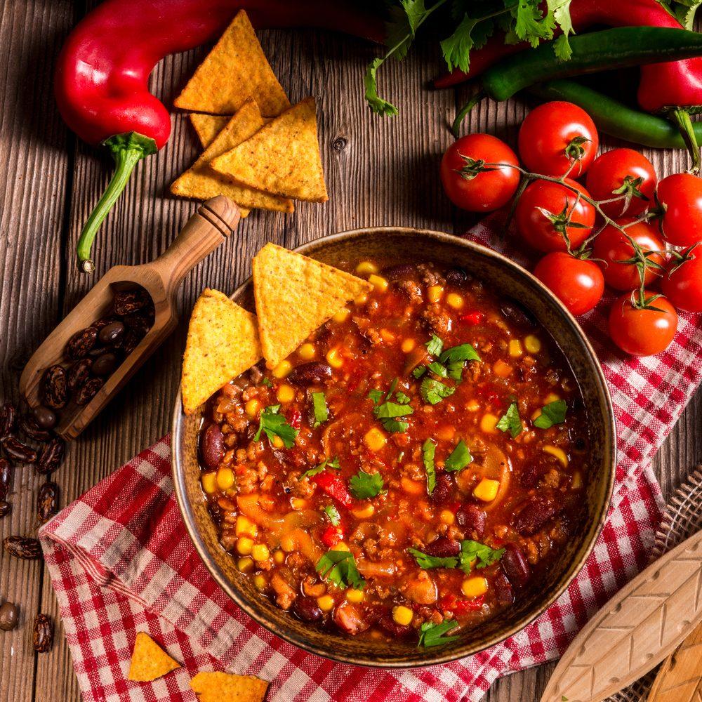 Meilleures recettes rapides et santé : Chili con carne.
