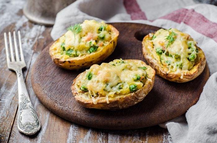 Meilleures recettes rapides et santé: pommes de terre farcies.