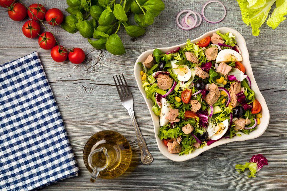 Meilleures recettes rapides et santé: salade niçoise.