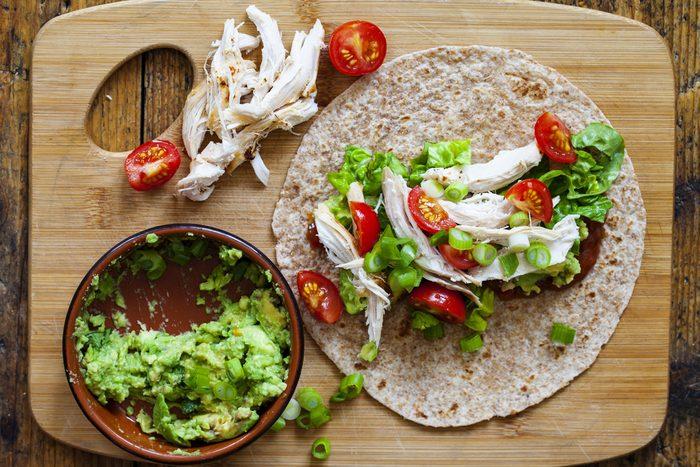 Meilleures recettes rapides et santé: tortilla à la dinde.