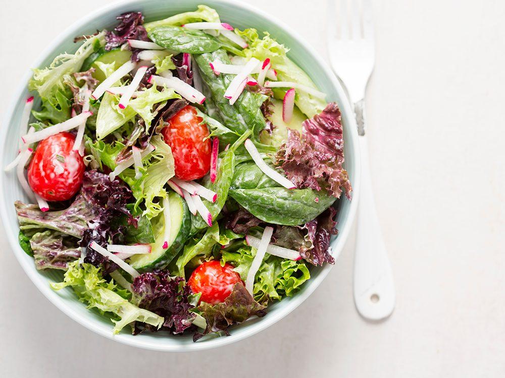 Recette de salade au yogourt.