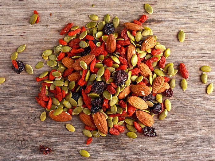Des aliments pour faire le plein d'énergie en hiver.