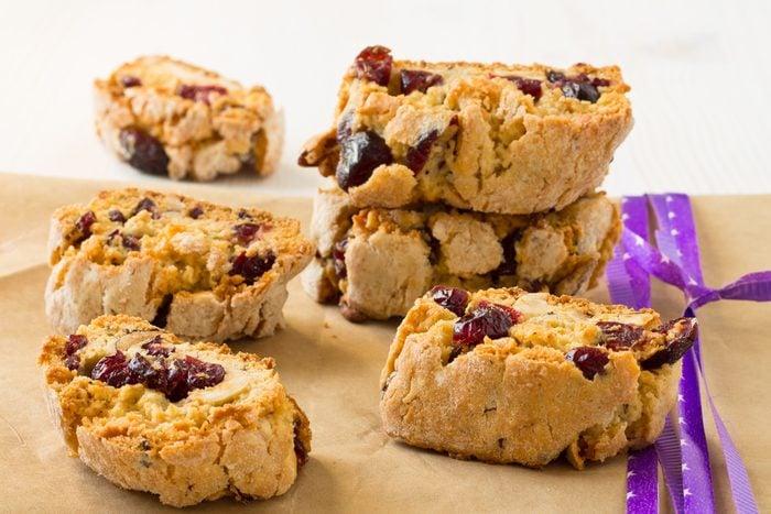 Une recette de biscottis canneberges et amandes
