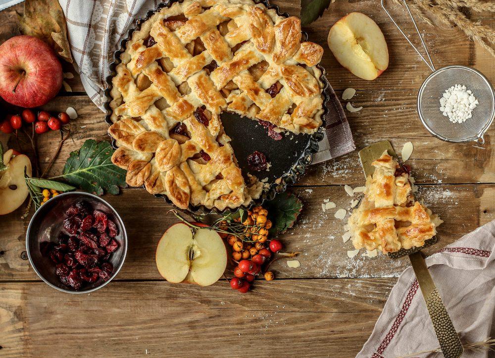 Une recette de tarte aux canneberges avec des pommes