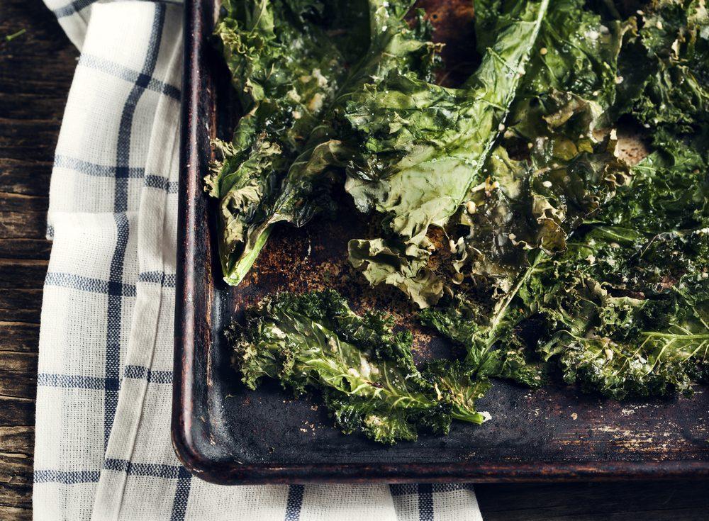 Le kale est une collation santé et coupe-faim