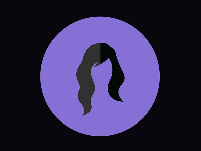 Coupe de cheveux pour un visage en forme de cœur.