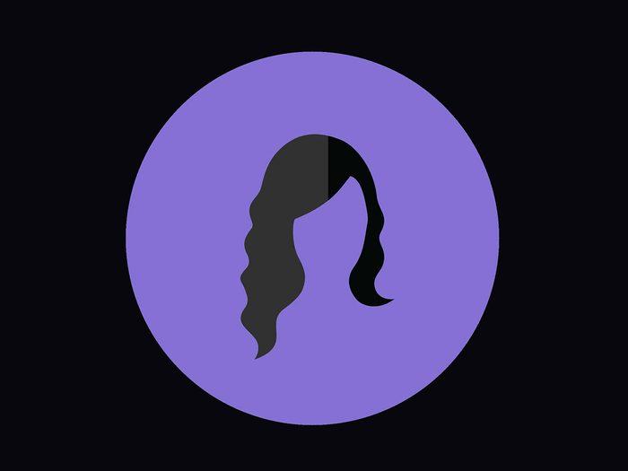 Coupe de cheveux pour un visage en forme de diamant.