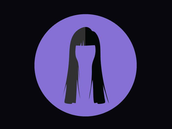 Coupe de cheveux pour un front haut.