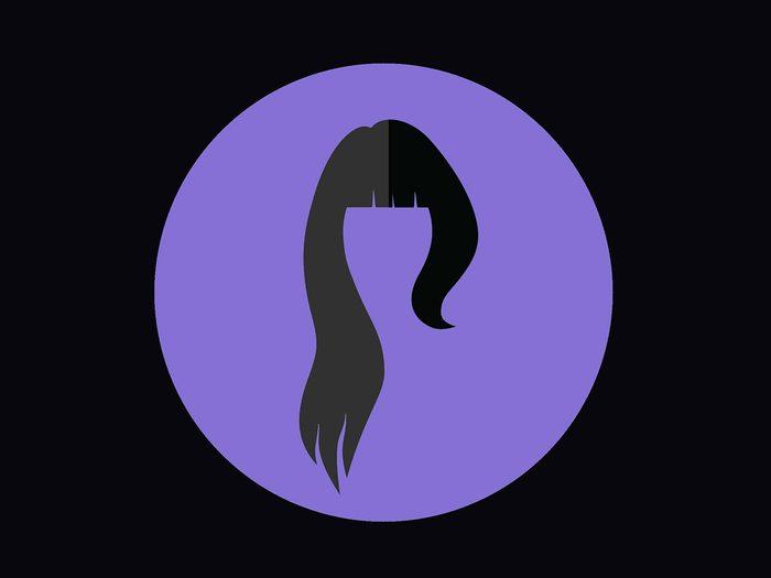 Coupe de cheveux pour un visage ovale.