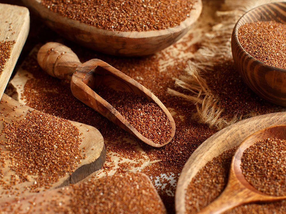 Le teff est l'un des grains anciens nutritifs et riches en protéines.