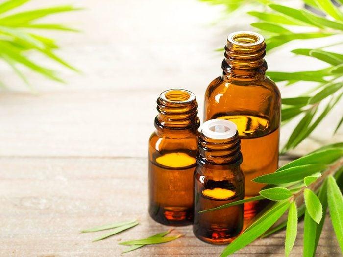 Utiliser l'huile d'arbre à thé pour éliminer les mycoses des ongles.