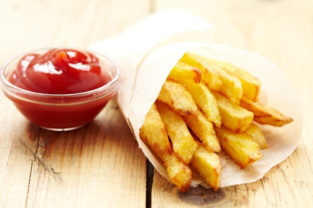 Pour couper des calories, réduisez vos portions de frites.