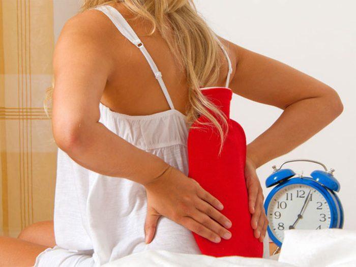 Soulager les symptômes du mal de dos.