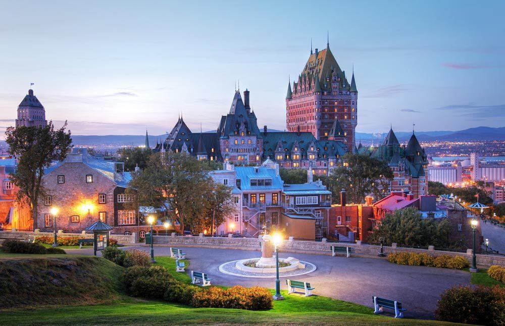 Lors d'un voyage au Canada, passez pas le vieux Québec.