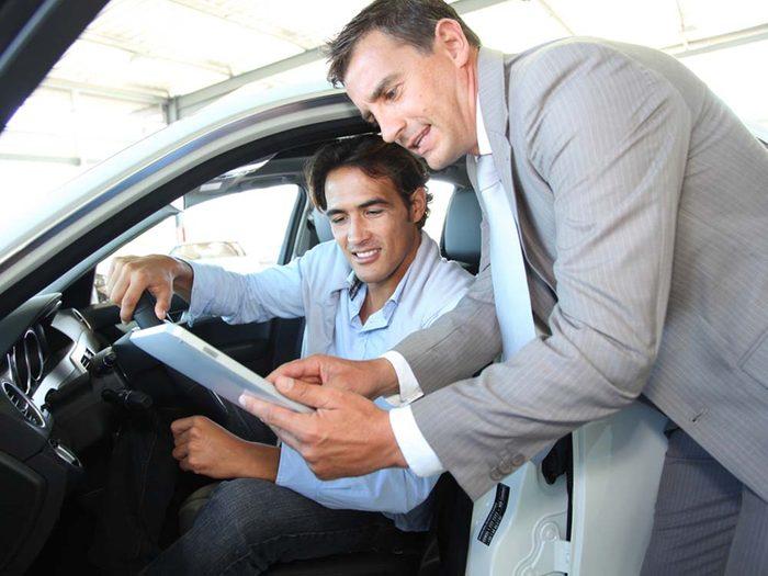 Achat d'une voiture: les secrets d'un vendeur.