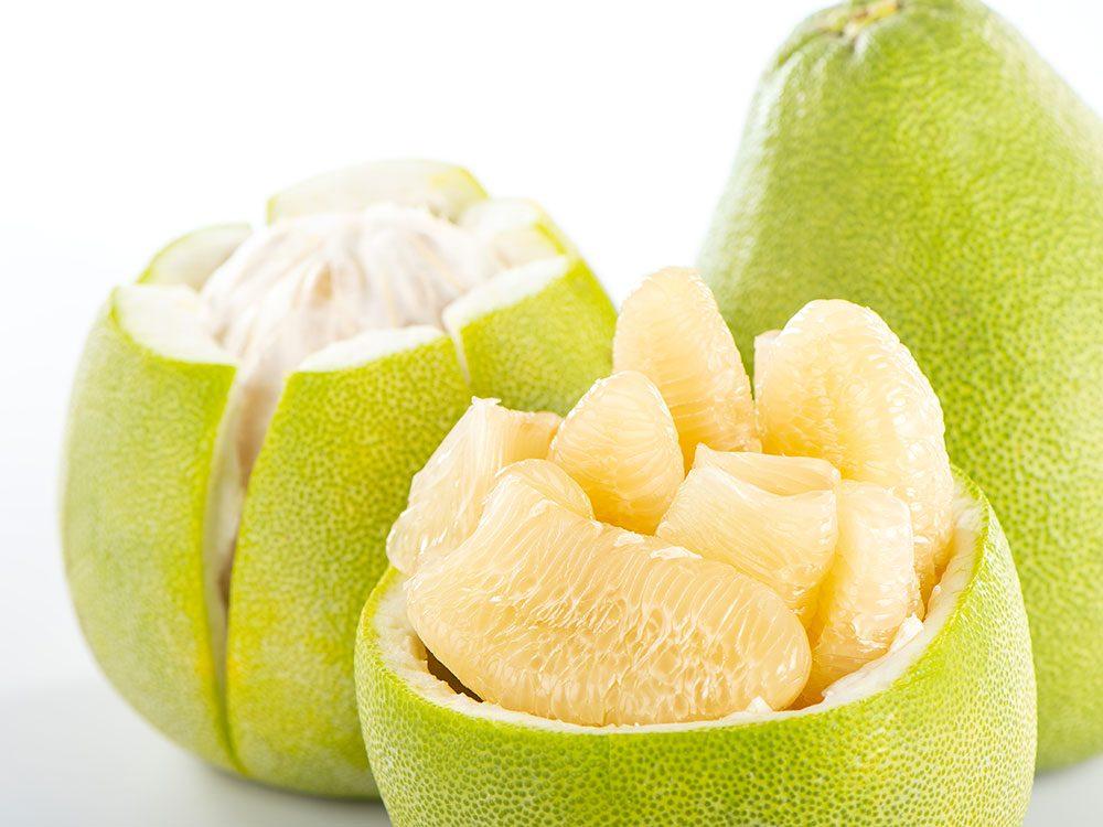 Le pomélo est remplit de vitamine C, parfait pour combattre le rhume.