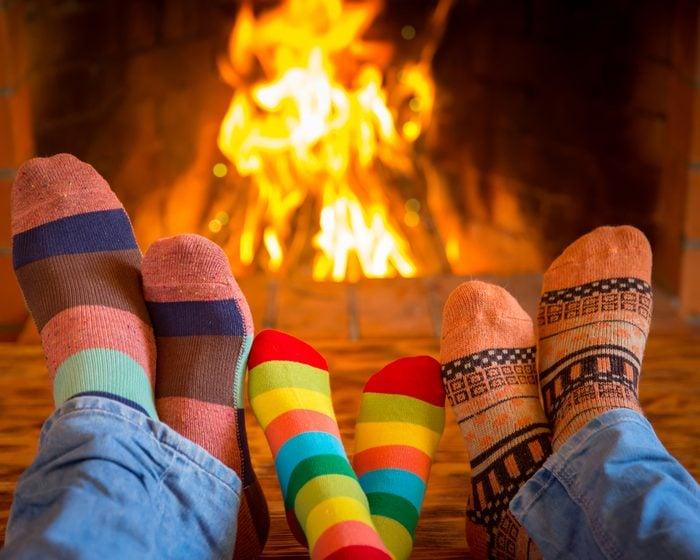 L'une des joies de l'hiver : passer du temps en famille