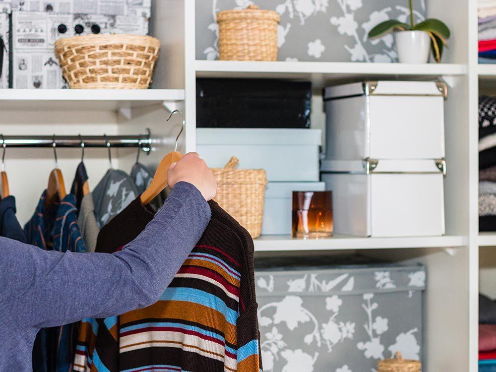 Entretien ménager: chaque chose doit avoir sa place.