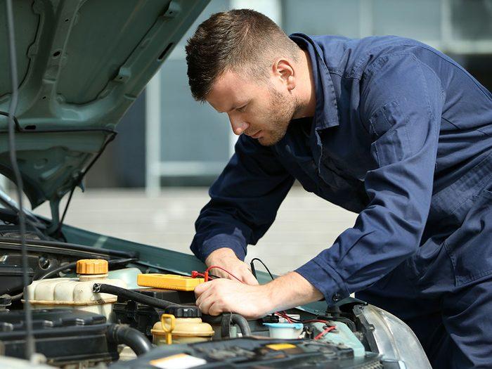 Réparation de voitures: incapacité à régler le problème d'origine au diagnostic.