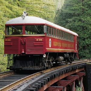 1. Ride the Skunk Train