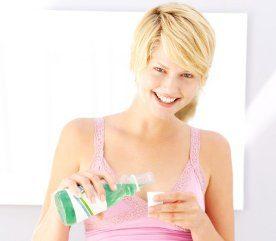 4- Vaporisez du rince-bouche à la menthe
