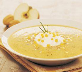 6. Soupe à la courge et aux pommes