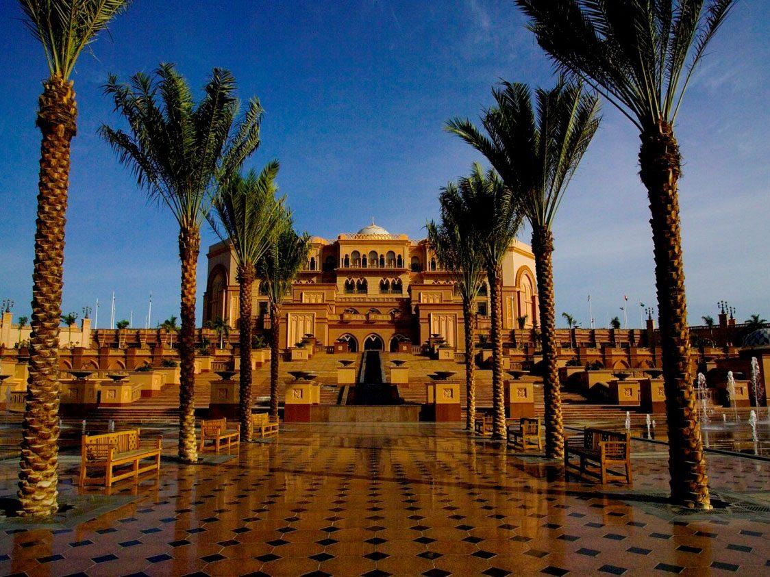 Un des hôtels les plus luxueux: le Palais des Émirats, à Abu Dhabi