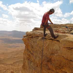 1. Faites du rappel dans le cratère Ramon
