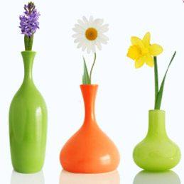 Nettoyer un vase à goulot étroit