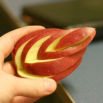 Pomme en feuille