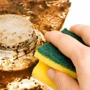 3. Utilisez l'huile de coude plutôt que des abrasifs