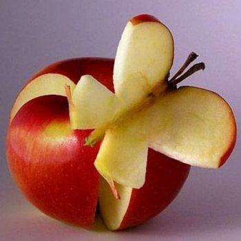 Pomme en papillon