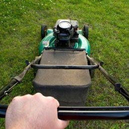 5.Empêchez l'herbe tondue de coller