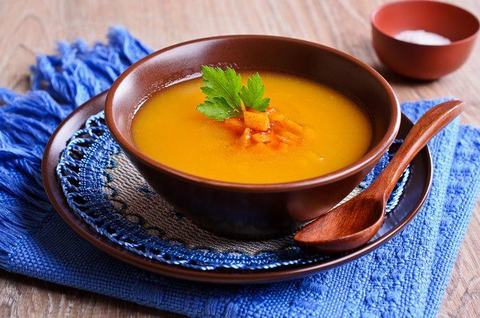 Une recette de potage à la carotte