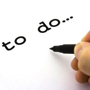 Faites une liste de tout ce qu'il y a à faire.
