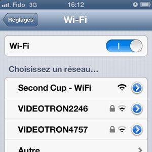 Désactivez l'option Wi-Fi