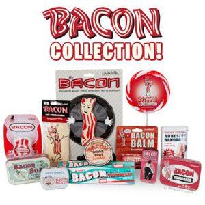 14. Collection de produits à saveur de bacon
