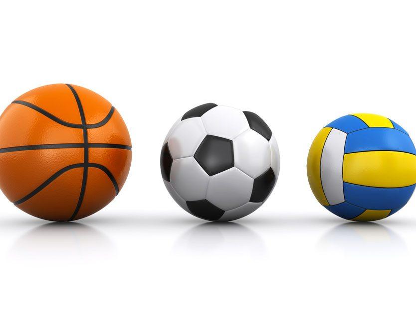 8. Ballons de sport gonflables