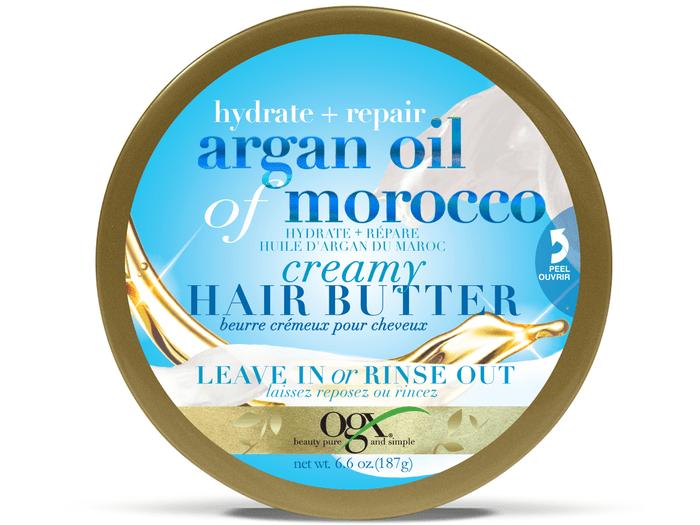 Beurre pour les cheveux à l'huile d'Argan du Maroc