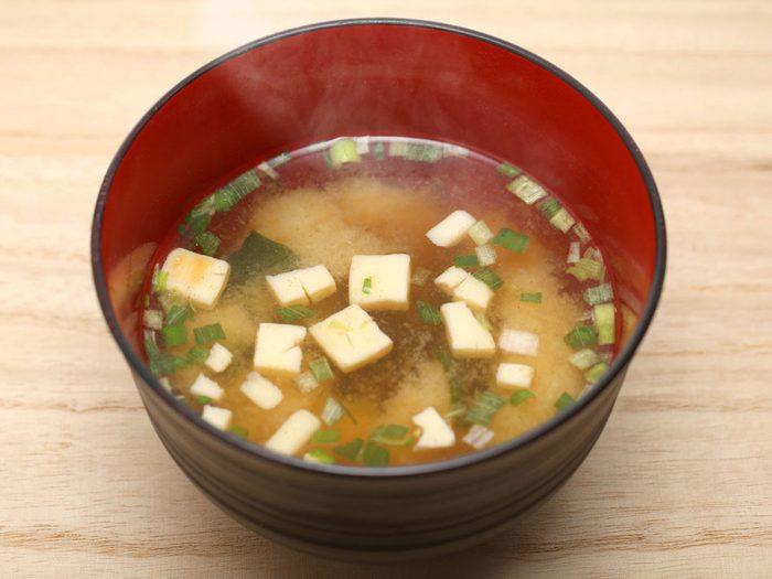 La soupe miso : bon pour la digestion