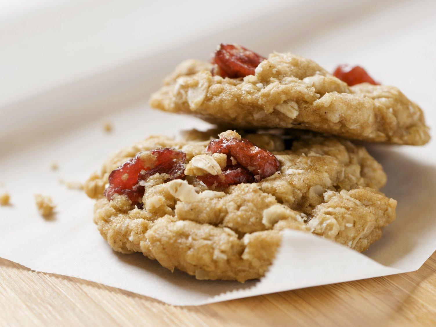 Biscuits croquants aux pommes et au musli