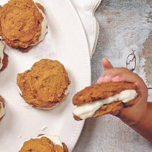 1. Biscuits à la citrouille et au fromage à la crème