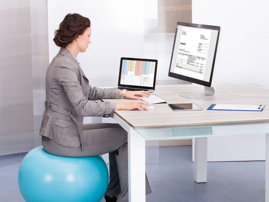 Au bureau : la bonne posture