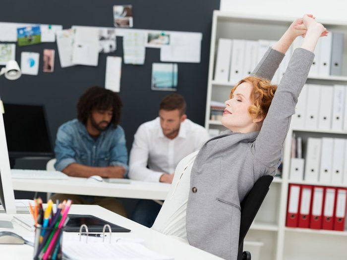 1. Faire de l'exercice à son bureau