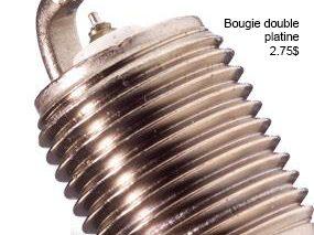Choisir une bougie d'allumage de rechange : Bougie double platine