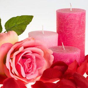 8. Bougies à la rose
